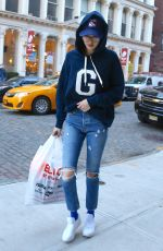 GIGI HADID in Ripped Jeans Out in New York 01/25/2017