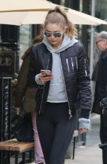 GIGI HADID Leaves Her Apartment in New York 01/16/2017