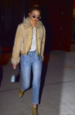 GIGI HADID Night Out in New York 01/19/2017