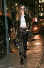 GIGI HADID Niht Out in New York 01/17/2017