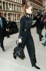 GIGI HADID Out and About in New York 01/14/2017