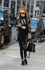 GIGI HADID Out and About in New York 01/15/2017