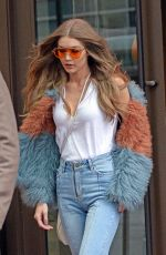 GIGI HADID Out in New York 01/18/2017