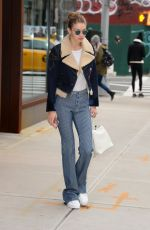 GIGI HADID Out in New York 01/23/2017