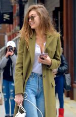 GIGI HADID Out in New York 01/27/2017