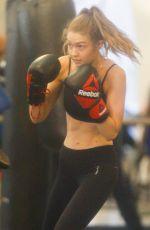 GIGI HADID Working Out at Gotham Gym in New York 01/16/2017
