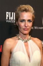 GILLIAN ANDERSON at Weinstein Company and Netflix Golden Globe Party in Beverly Hills 01/08/2017