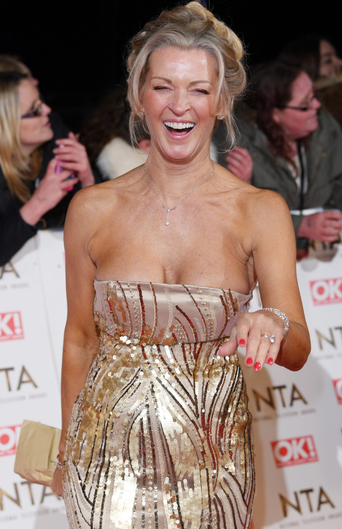 GILLIAN TAYLFORTH at National Television Awards in London 01/25/2017