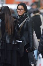 GINA GERSHON Out Shopping in New York 01/18/2017