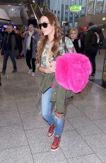 GINA LISA LOHFINK at Airport in Frankfurt am Main 01/06/2017