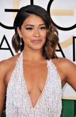 GINA RODRIGUEZ at 74th Annual Golden Globe Awards in Beverly Hills 01/08/2017