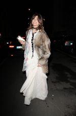 GINEVRA ROSSINI Leaves Alberta Ferretti Fashion Show at Milan Fashion Week 01/13/2017