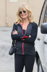 GOLDIE HAWN and Kurt Russell Out in Beverly Hills 01/15/2017