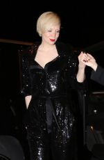 GWENDOLINE CHRISTIE at Catch LA in West Hollywood 01/29/2017