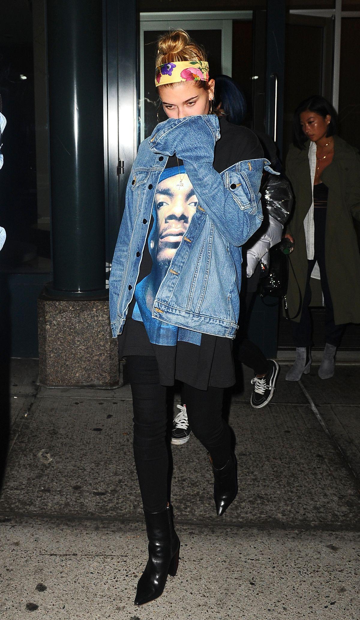 HAILEY BALDWIN Night Out in New York 01/13/2017
