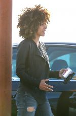 HALLE BERRY Out and About in Santa Monica 01/19/2017