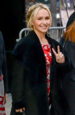 HAYDEN PANETTIERE Arrives at Good Morning America in New York 01/04/2017