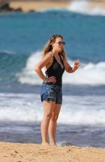 HAYLIE DUFF on the Beach in Hawaii 01/02/2017