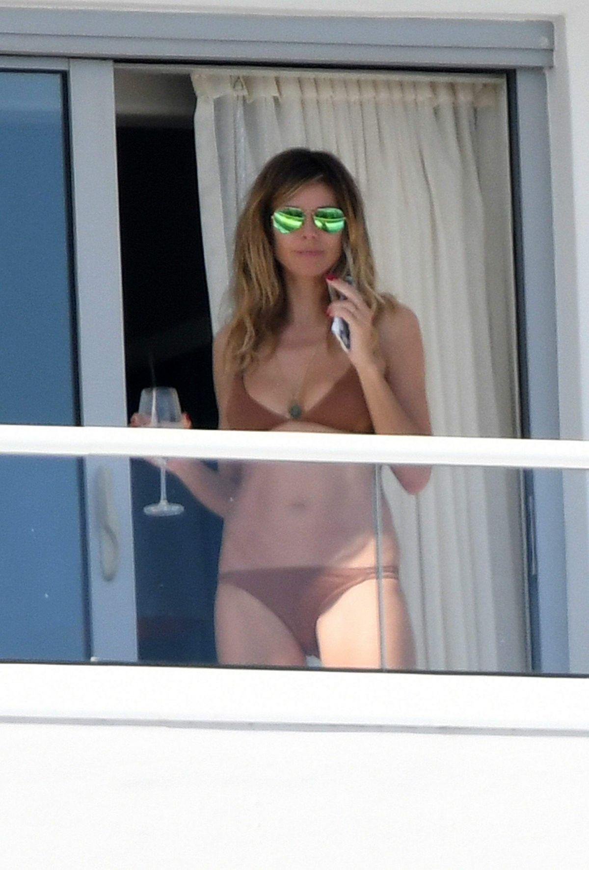 HEIDI KLUM in Bikini on Her Hotel Balcony in Miami 01/07/2017
