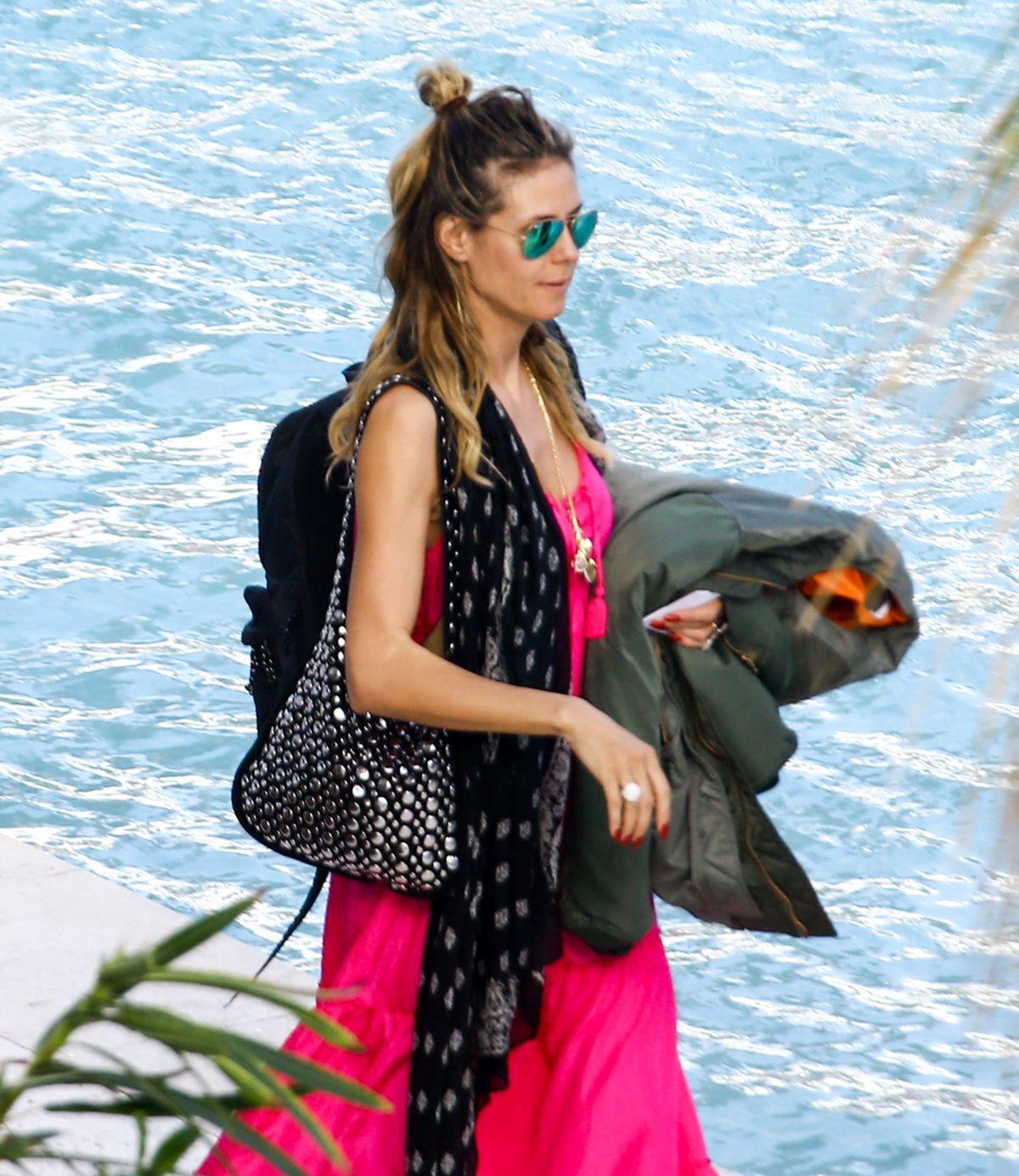 HEIDI KLUM on Vacation in Miami 01/03/2017