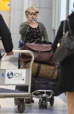HELENA BONHAM CARTER at JFK Airport in Ney York 01/09/2017