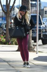 HILARY DUFF Heading to a Gym in Los Angeles 01/17/2017