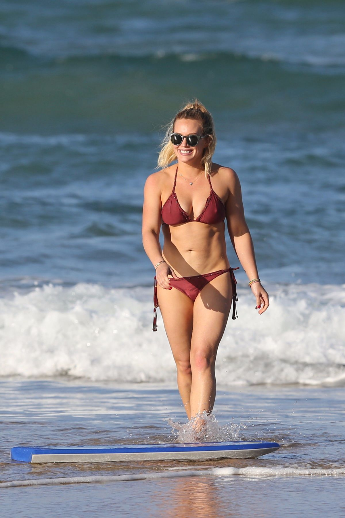 Hilary Duff Flaunts Major Cleavage in