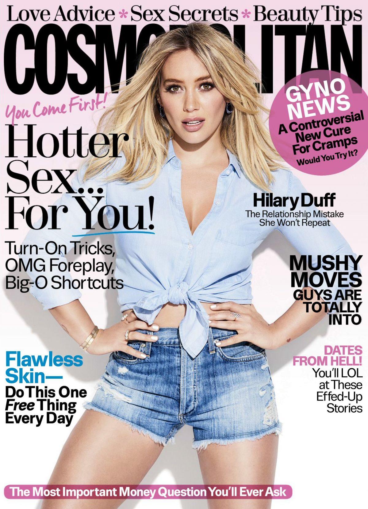 HILARY DUFF in Cosmopolitan Magazine, February 2017 Issue