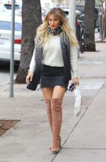 HILARY DUFF in High Boots Out for Lunch in Studio City 01/09/2017