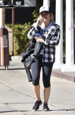 HILARY DUFF in Leggings Heading to a Gym in Studio City 01/30/2017