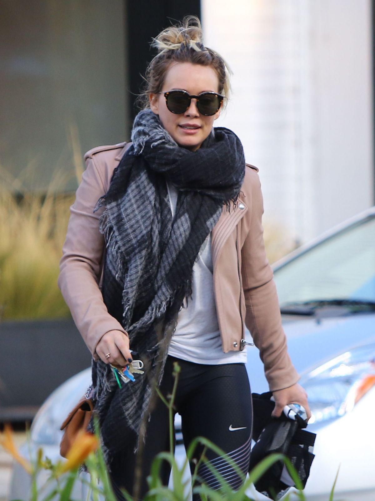 HILARY DUFF Leaves a Gym in Studio City 01/24/2017