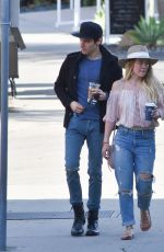 HILARY DUFF Out and About in Santa Barbara 01/15/2017