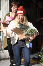 HILARY DUFF Out Shopping in Studio City 01/13/2017
