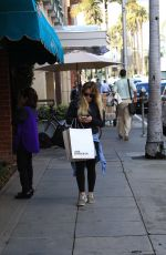 HILARY DUFF Shopping in Beverly Hills 01/11/2017