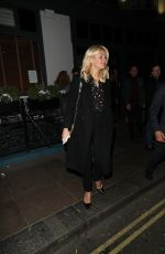 HOLLY WILLOGHBY at Groucho in London 01/21/2017