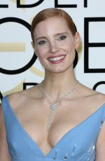 JESSICA CHASTAIN at 74th Annual Golden Globe Awards in Beverly Hills 01/08/2017