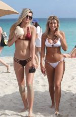 CHANTEL JEFFRIES and ALISSA VIOLET in Bikinis on the Beach in Miami 01/06/2017