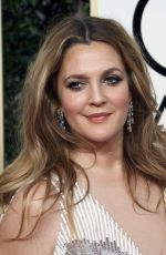 DREW BARRYMORE at 74th Annual Golden Globe Awards in Beverly Hills 01/08/2017