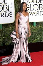 NAOMI CAMPBELL at 74th Annual Golden Globe Awards in Beverly Hills 01/08/2017