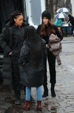 RIHANNA and SANDRA BULLOCK on the Set of