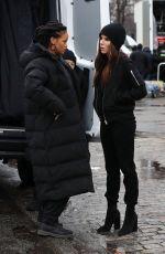 RIHANNA and SANDRA BULLOCK on the Set of \