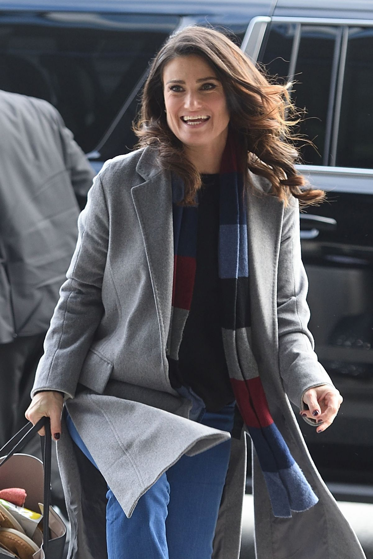 IDINA MENZEL at JFK Airport in New York 01/19/2017