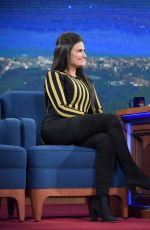 IDINA MENZEL at Late Show with Stephen Colbert 01/18/2017