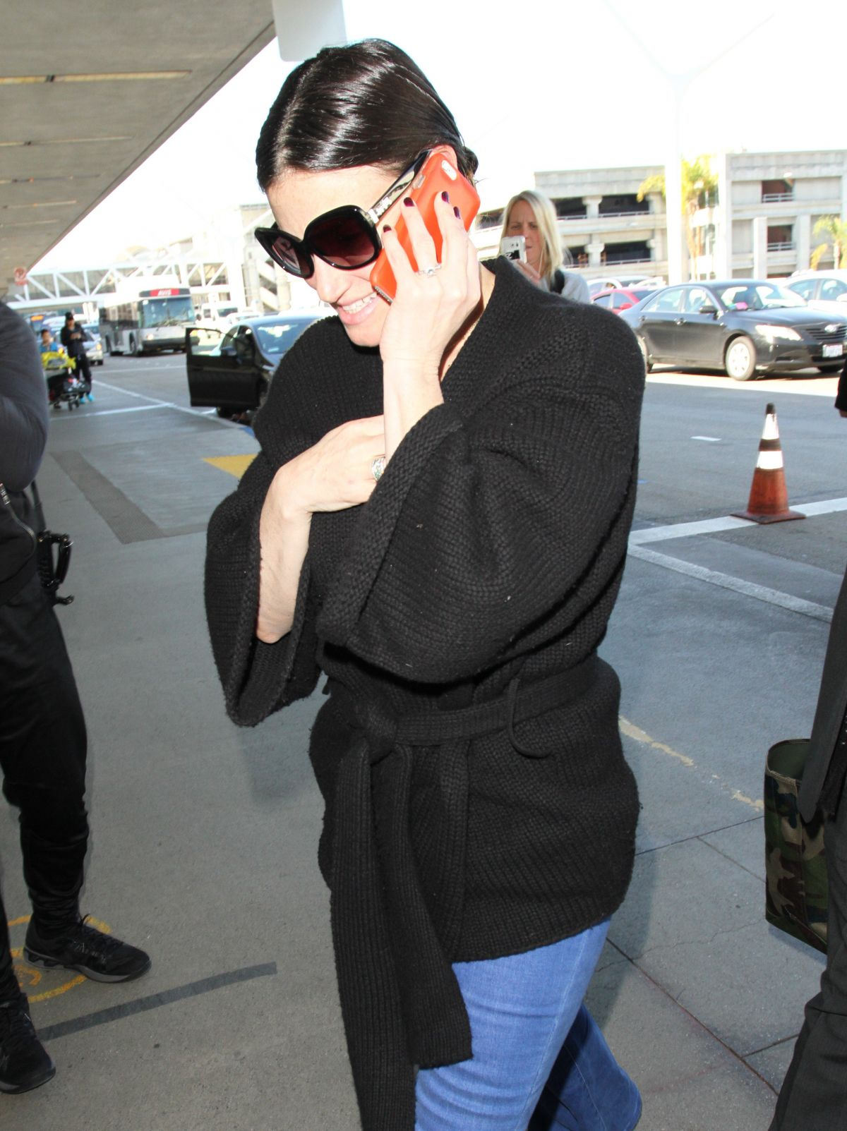 IDINA MENZEL at LAX Airport in Los Angeles 01/17/2017