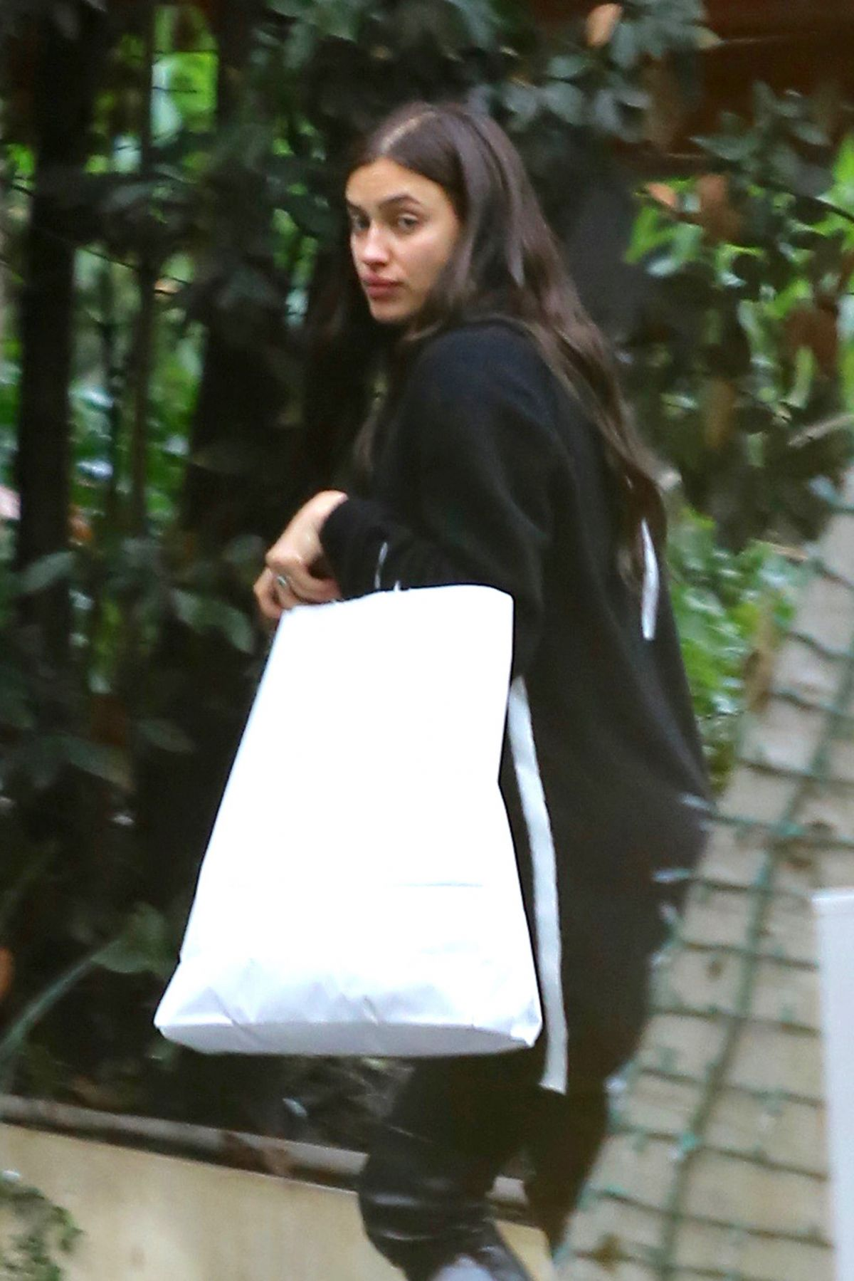 IRINA SHAYK Arrives at Andy LeCompte Salon in Beverly Hills 01/05/2017