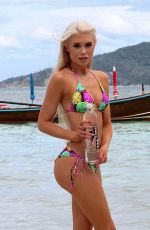 ISABEL LJUNGDELL in Bikini on the Set of 138 Water Photoshoot in Thailand 01/15/2017