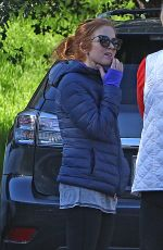 ISLA FISHER Out at Fryman Canyon Park in Los Angeles 01/30/2017