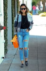 JAMIE CHUNG in Ripped Jeans Out Shopping in Beverly Hills 01/25/2017
