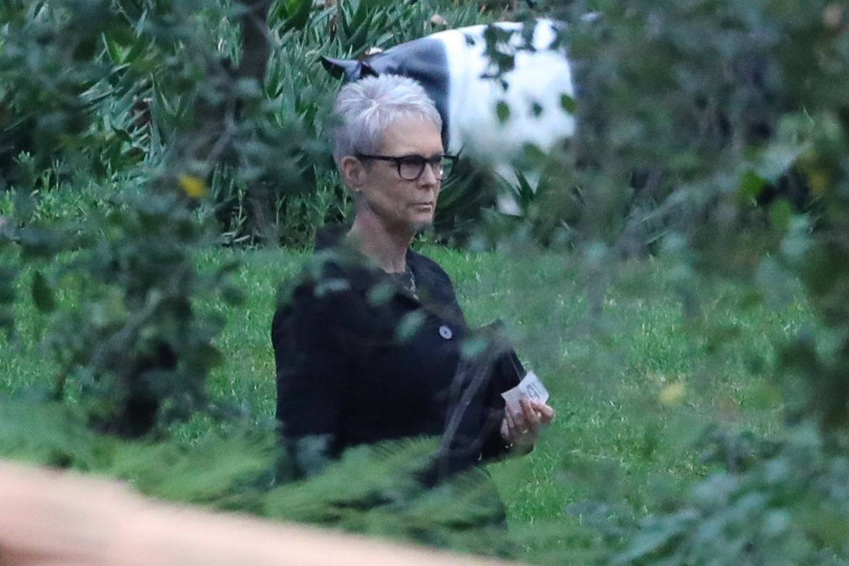 JAMIE LEE CURTIS at Memorial Service of Debbie Reynolds and Carrie Fisher in Los Angeles 01/05/2017