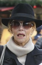 JANE FONDA Out Shopping in West Hollywood 12/24/2016